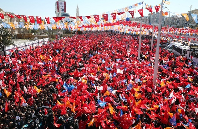 Yüz binler Şanlıurfa mitingine akın etti