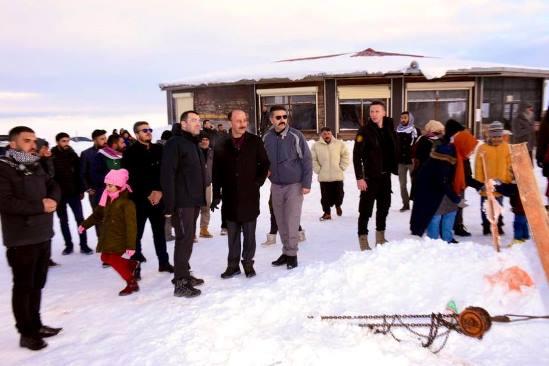 Vali Abdullah Erin kayak merkezini ziyaret etti