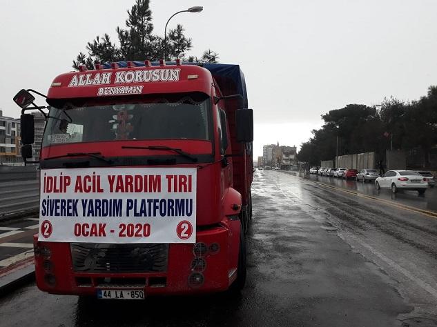 Siverek Yardım Platformu'ndan İdlip'e 2 TIR yardım