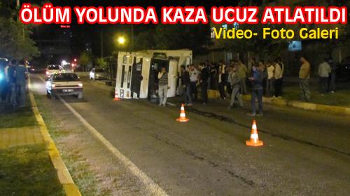 ÖLÜM YOLUNDA TIR KAZASI UCUZ ATLATILDI