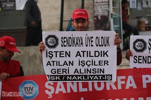 Siverek ve Şanlıurfa'da işten çıkarılan işçiler eylem yaptı