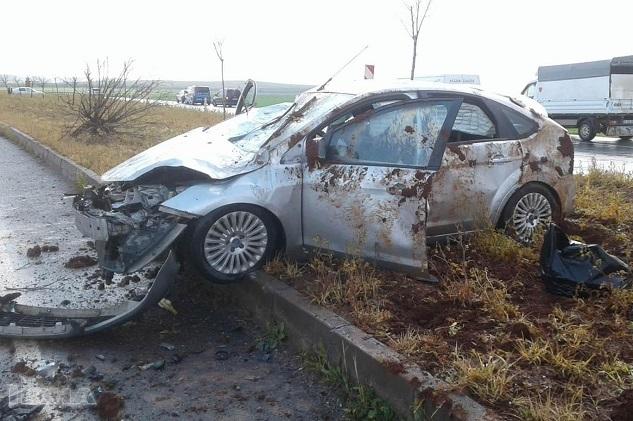Hilvan'da su birikintisi kazaya neden oldu