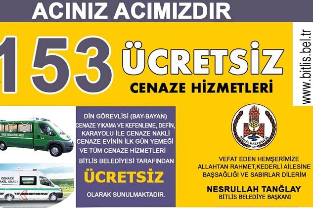 Bitlis Belediyesi'nden örnek davranış