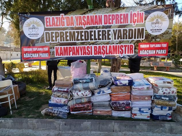 Siverek'te depremzedeler için yardım kampanyası başlatıldı