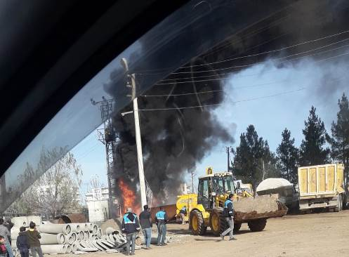 Trafoda çıkan yangın itfaiye ekiplerince söndürüldü
