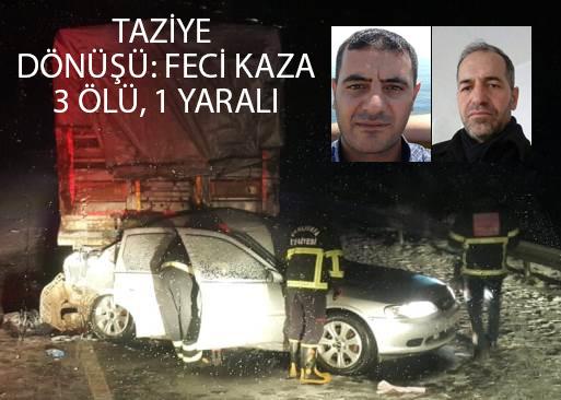 Şanlıurfa'da feci kaza: 3 ölü, bir yaralı