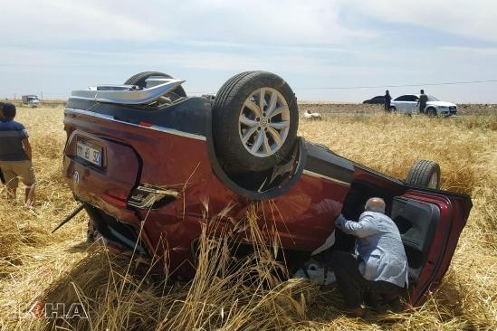 Siverek- Hilvan yolunda kaza: bir yaralı
