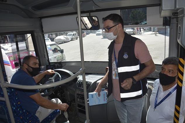 Siverek'te toplu taşıma araçlarında Coronavirus denetimleri sürüyor