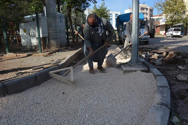 Gazeteci Osman Göyüç Parkında yenileme çalışması