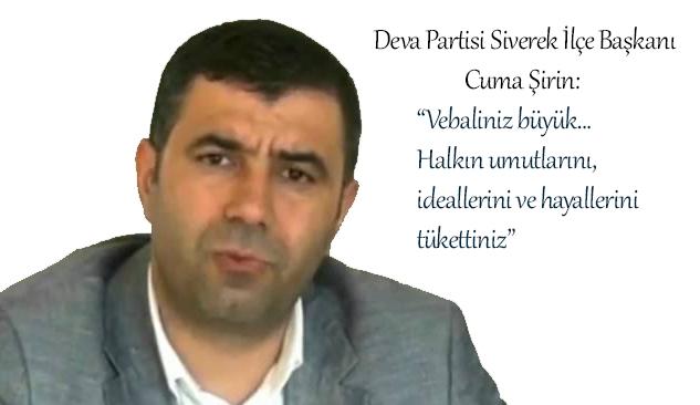 Şirin, Siverek Belediye Başkanı Aydın'ın istifasını yorumladı