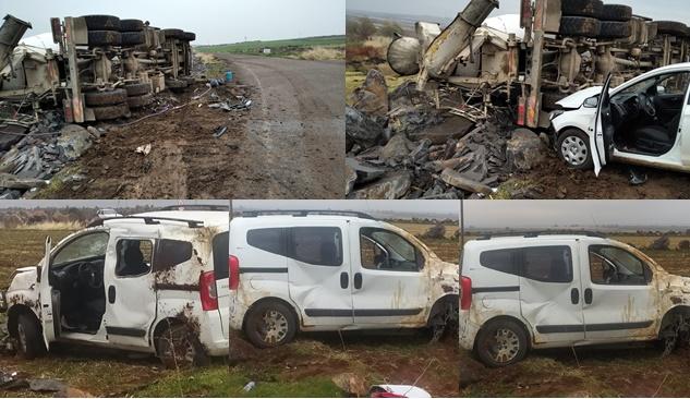 Siverek'te iki ayrı kaza: 6 yaralı