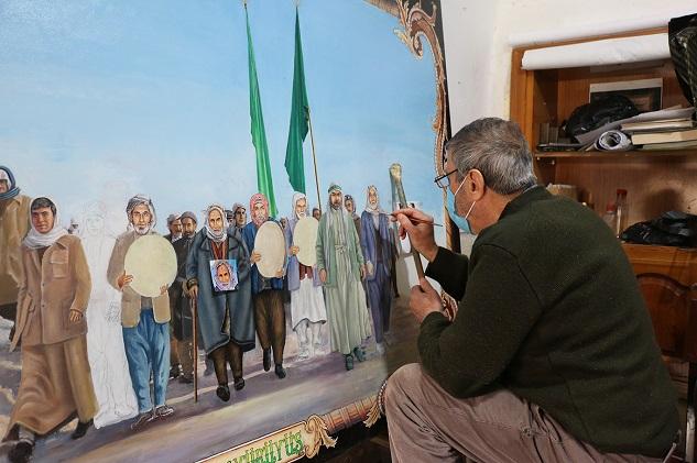 77 yaşında resim çizmeye devam ediyor