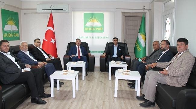 Gelecek Partisi Genel Başkan Yardımcısı Özdağ'dan HÜDA PAR'a ziyaret