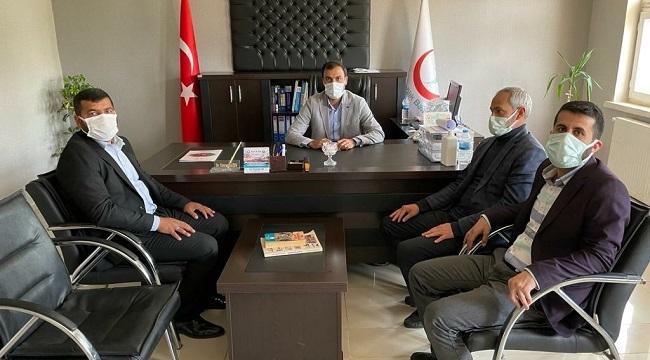HÜDA PAR İlçe Başkanı Sımak'tan İlçe Sağlık Müdürlüğüne ziyaret