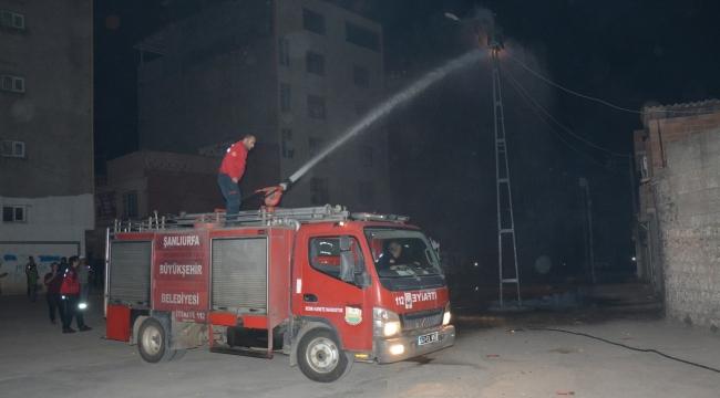 Siverek'te trafo yangını korkuya neden oldu