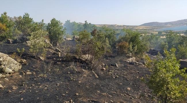 Kayalı (Hadro) kırsal mahallesinde yangın