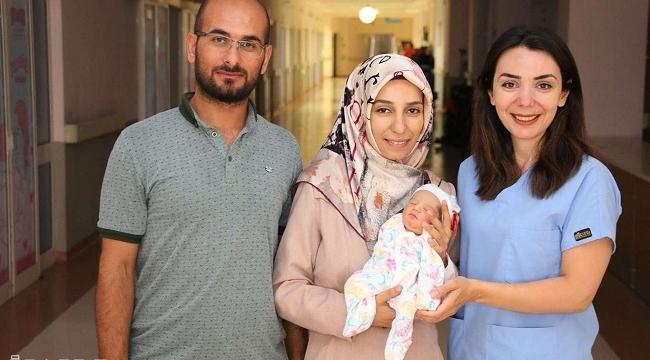Şanlıurfa'da rahminde 3,5 kilogram tümor olan kadın doğum yaptı
