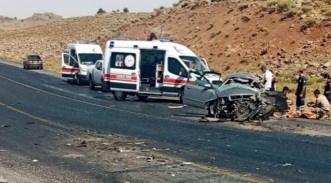 Viranşehir- Diyarbakır yolunda kaza: 2 ölü, 3 yaralı