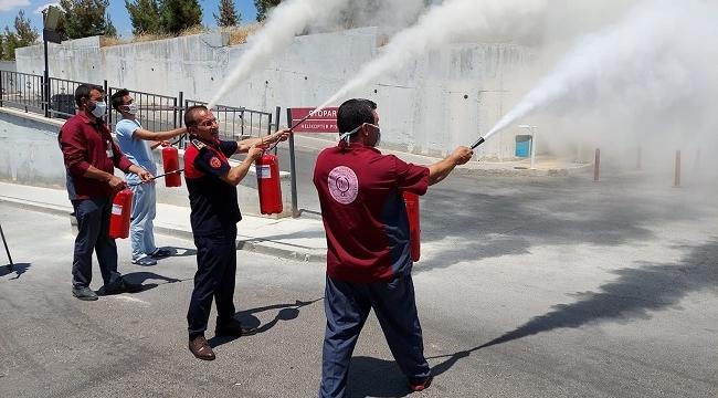 Harran Üniversitesinde yangın tatbikatı yapıldı
