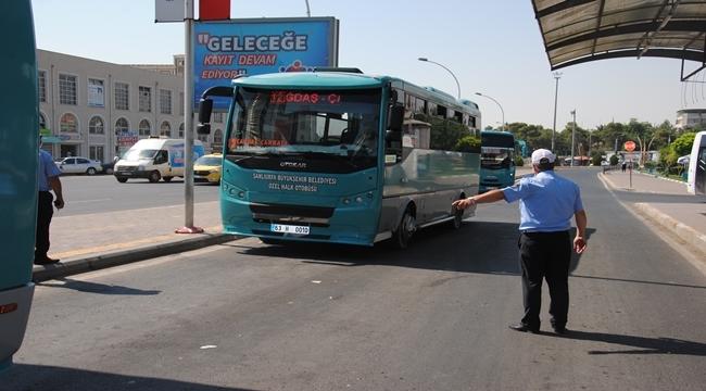 Şanlıurfa'da toplu taşıma araçları denetlendi