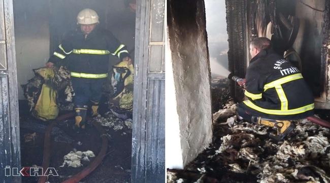 Siverek'te 8 kişinin yaşadığı konutta yangın
