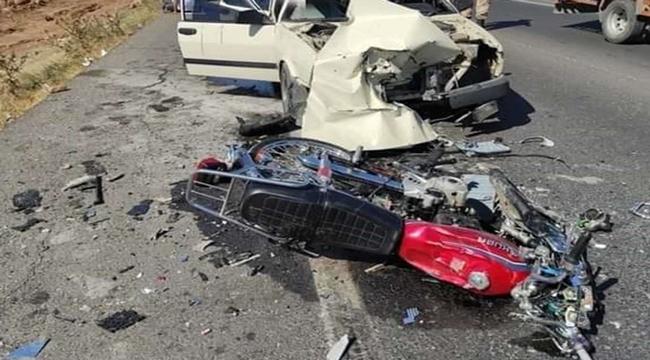 Suruç yolunda motosiklet ile otomobil çarpıştı: Bir ölü 2 yaralı