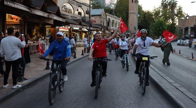 Şanlıurfa'da pedaller spor haftası etkinlikleri kapsamında çevrildi