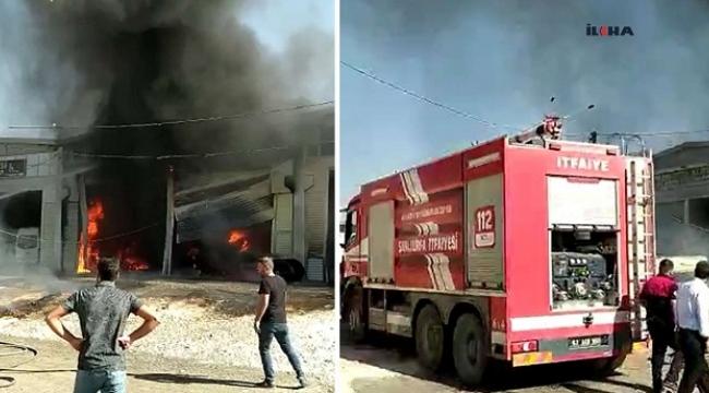 Şanlıurfa'da sanayi sitesinde yangın