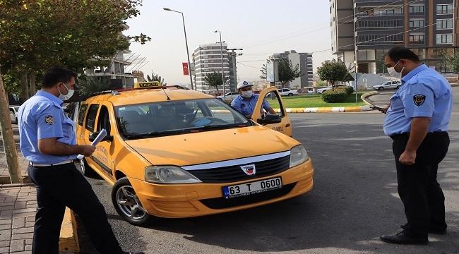 Şanlıurfa'da ticari taksilere yönelik denetim