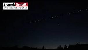 Gökyüzündeki sıralı yıldızlar görenleri şaşırttı